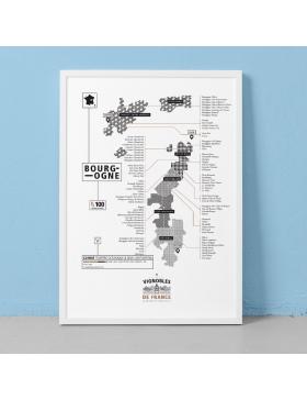Affiche Vignoble de Bourgogne La Majorette à moustache - Affiches et Cartes