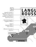 Affiche Vignoble du Languedoc-Roussillon La Majorette à moustache