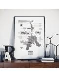Affiche Vignoble de la Vallée du Rhône La Majorette à moustache