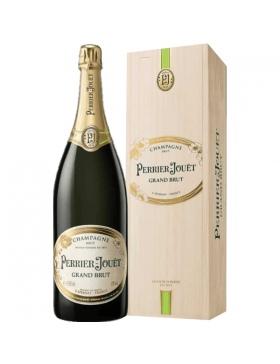 Champagne & Idées Cadeaux - Perrier-Jouët Grand Brut Jeroboam Caisse Bois