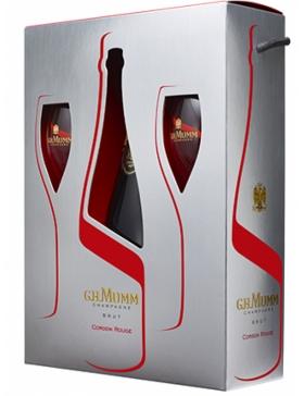 Mumm Cordon Rouge - Coffret 2 flûtes - Champagne AOC Mumm