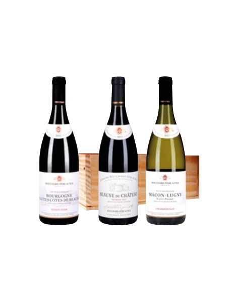 Caisse Bois Bouchard Père & Fils Bourgogne AOP - 3 x 75cl