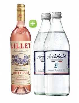 Pack Lillet Rosé & Tonic Premium Archibald - Spiritueux Packs - Kits et Box Cocktails