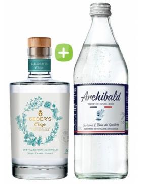 Pack Gin Ceder's Crisp & Tonic Premium Archibald - Spiritueux Packs - Kits et Box Cocktails