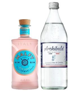Pack Gin Malfy Con Rosa & Tonic Premium Archibald - Spiritueux Packs - Kits et Box Cocktails