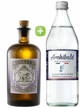 Pack Gin Monkey 47 & Tonic Premium Archibald - Spiritueux Packs - Kits et Box Cocktails